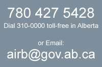 Email airb@gov.ab.ca, or call 780-427-5428